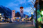 Austria, St Anton.  Low Light Photography.<br />