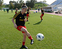20180307 - LARNACA , CYPRUS :  Belgian Laura Deloose pictured during warming up of a women's soccer game between  South Africa and the Belgian Red Flames  , on Wednesday 7 March 2018 at the GSZ Stadium in Larnaca , Cyprus . This is the final game in a decision for 5th or 6th place for Belgium during the Cyprus Womens Cup , a prestigious women soccer tournament as a preparation on the World Cup 2019 qualification duels. PHOTO SPORTPIX.BE | DAVID CATRY