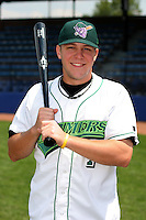 Jamestown Jammers Andrew Saylor poses for a photo before a NY-Penn League game at Russell Diethrick Park on July 1, 2006 in Jamestown, New York.  (Mike Janes/Four Seam Images)