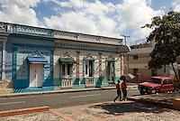 Kolonialgebäude in Bani an der Südküste, Dominikanische Republik