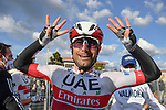 Diego Ulissi (ITA) UAE Team Emirates wins Stage 13, his 2nd in this years race and his eight stage win in all Giri, of the 103rd edition of the Giro d'Italia 2020 running 192km from Cervia to Monselice, Italy. 16th October 2020.  <br /> Picture: LaPresse/Fabio Ferrari | Cyclefile<br /> <br /> All photos usage must carry mandatory copyright credit (© Cyclefile | LaPresse/Fabio Ferrari)