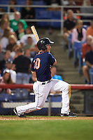 Binghamton Mets outfielder Joe Benson (10) at bat during a game against the Trenton Thunder on August 8, 2015 at NYSEG Stadium in Binghamton, New York.  Trenton defeated Binghamton 4-2.  (Mike Janes/Four Seam Images)