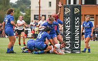 24 August 2019; Ella Garland scores during the Under 18 Girls Interprovincial Rugby Championship match between Ulster and Leinster at Armagh RFC in Armagh. Photo by John Dickson / DICKSONDIGITAL