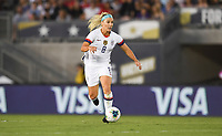 PASADENA, CALIFORNIA - August 03: Julie Ertz #8 during their international friendly and the USWNT Victory Tour match between Ireland and the United States at the Rose Bowl on August 03, 2019 in Pasadena, CA.