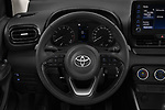 Car pictures of steering wheel view of a 2020 Toyota Yaris Dynamic 5 Door Hatchback Steering Wheel