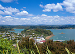 New Zealand, North Island, Bay Of Islands (Russell): View of Town and Bay from Flagstaff Hill | Neuseeland, Nordinsel, Bay Of Islands (Russell): Stadt und Bay vom Flagstaff Hill gesehen