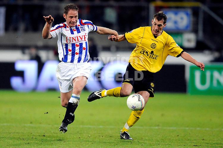 voetbal sc heerenveen - roda jc eredivisie seizoen 2008-2009 24-01-2009 michel breuer met willem janssen.fotograaf jan kanning.