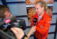 Februari 06, 2015, Apeldoorn, Omnisport, Fed Cup, Netherlands-Slovakia, Draw, Cityhall, interview with Kiki Bertens<br /> Photo: Tennisimages/Henk Koster