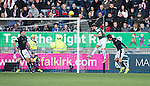 James Keatings scores the second goal for Hibs
