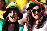Ghana fans in the stands before the game against Serbia