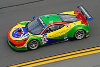 22-25 January, 2015, Daytona Beach, Florida USA<br /> 64, Ferrari, 458 Italia, GTD, Francisco Longo, Daniel Serra, Marcos Gomes, Andrea Bertolini<br /> ©2015, F. Peirce Williams