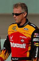 Nov 21, 2004; Homestead, FL, USA; Nascar Nextel Cup driver (21) Ricky Rudd during the Ford 400 at Homestead Miami Speedway. Mandatory Credit: Mark J. Rebilas