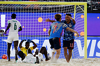 28th August 2021; Luzhniki Stadium, Moscow, Russia: FIFA World Cup Beach Football tournament; Semi final match Japan versus Senegal:  Masanori Okuyama of Japan, celebrates his goal with Takaaki Oba, during the match between Japan and Senegal
