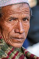 Bhaktapur, Nepal.  Newari Man.