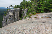 The top of Cathedral Ledge in Bartlett, New Hampshire. Cathedral Ledge is a popular rock climbing area in New Hampshire.