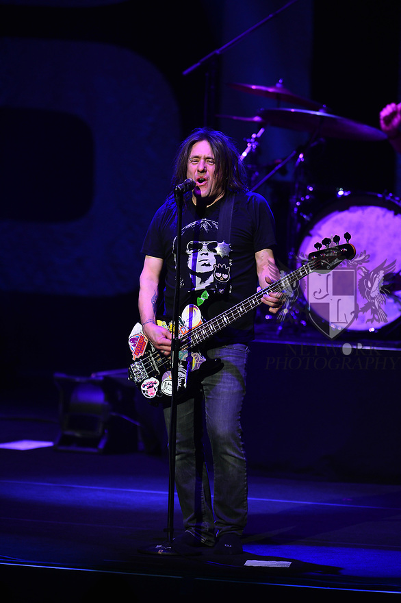 HOLLYWOOD, FL - JANUARY 29: Robby Takac, of Goo Goo Dolls perform on stage at Hard Rock Event Center at the Seminole Hard Rock Hotel & Casino on January 29, 2020 in Hollywood, Florida.  ( Photo by Johnny Louis / jlnphotography.com )