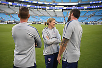 CHARLOTTE, NC - OCTOBER 03: Jill Ellis Manager of the United States women's team prior to their game versus Korea Republic at Bank of American Stadium, on October 03, 2019 in Charlotte, NC.