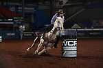 Samantha Chambers during the second round of barrel qualifiers at the WCRA Stampede at the E. Photo by Andy Watson