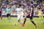 "Real Madrid's Francisco Roman ""Isco"" during XXXVIII Santiago Bernabeu Trophy at Santiago Bernabeu Stadium in Madrid, Spain August 23, 2017. (ALTERPHOTOS/Borja B.Hojas)"