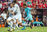Landover, MD - July 26 2017: Barcelona defeated Manchester United 1-0 in an International Champions Cup match at Fedex Field.