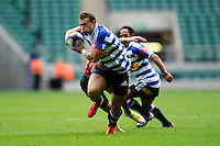Ruan Mostert of DHL Western Province breaks in midfield during the World Club 7s at Twickenham on Saturday 17th August 2013 (Photo by Rob Munro)