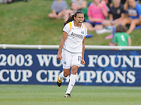 LA Sol forward Marta (10) celebrates her game winning goal. The Los Angeles Sol defeated the Washington Freedom 1-0 at the Maryland SoccerPlex in Boyds, MD on Sunday July 5, 2009.