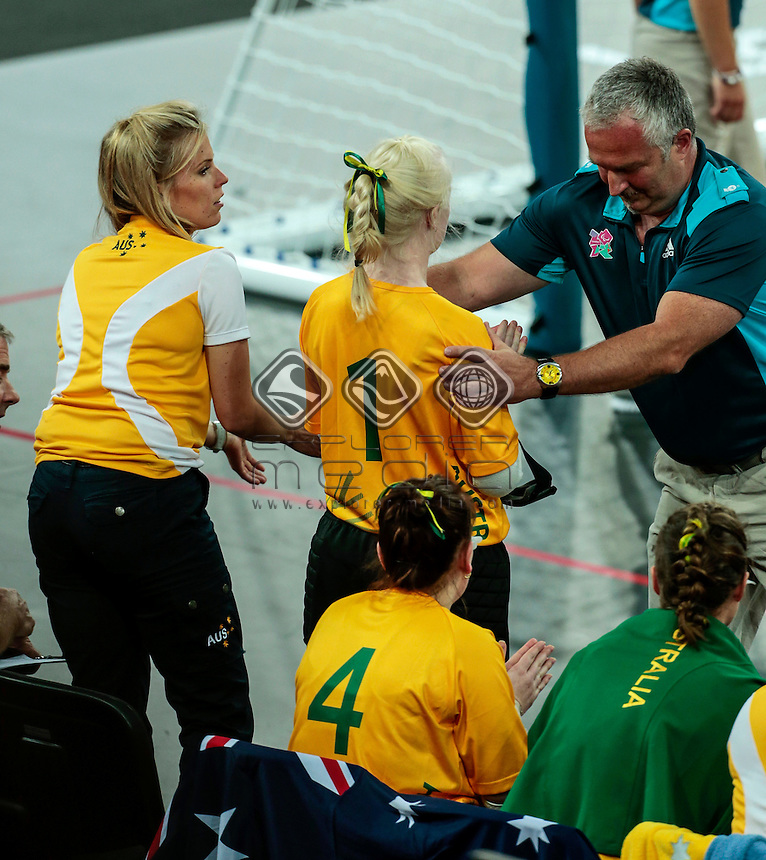 AUS v USA Womens Goalball Day05  (Monday 3rd Sept) - Copper Box, Paralympics - Summer / London 2012, London, England 29 Aug - 9 Sept , © Sport the library/Greg Smith
