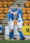 St Johnstone v Stenhousemuir…21.01.17  McDiarmid Park  Scottish Cup<br />Blair Alston celebrates his goal with David Wotherspoon<br />Picture by Graeme Hart.<br />Copyright Perthshire Picture Agency<br />Tel: 01738 623350  Mobile: 07990 594431