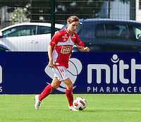 Supercup seizoen 2011 - 2012 ; Kampioen Standard Femina tegen Bekerwinnaar Waasland Beveren Sinaai Girls : Berit Stevens.foto DAVID CATRY / Vrouwenteam.be