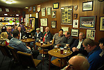 A half time pint in the club house. Whitby Town 3 Shildon 2, FA CUP 1st Round Qualifying, 15th September 2007.