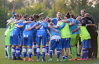 20160513 - LIEGE , BELGIUM : illustration picture of team AA Gent before a soccer match between the women teams of  Standard Femina De Liege and KAA Gent Ladies , during the fifth matchday in the SUPERLEAGUE Playoff 1 , Friday 13 May 2016 . PHOTO SPORTPIX.BE / DAVID CATRY