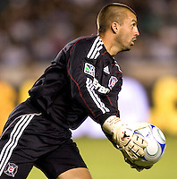 Chicago Fire goalkeeper Jon Busch with a save. The LA Galaxy defeated the Chicago Fire 1-0 at Home Depot Center stadium in Carson, California on Friday October 2, 2009...