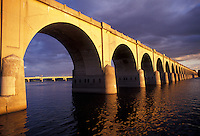 AJ2732, bridge, arch, Harrisburg, Susquehanna River, Pennsylvania, An arched bridge crosses the Susquehanna River in Harrisburg the capital city in the state of Pennsylvania.