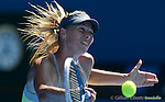 Maria Sharapova (RUS) wins at Australian Open in Melbourne Australia on 20th January 2013