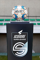 illustration picture of the matchball pictured during a female soccer game between Eendracht Aalst and Sporting Charleroi on the third matchday of play off 2 of the 2020 - 2021 season of Belgian Scooore Womens Super League , Saturday 24 th of April 2021  in Aalst , Belgium . PHOTO SPORTPIX.BE | SPP | KRISTOF DE MOOR