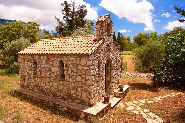 Small Orthodox Chapel, Kefalonia, Ionian Islands, Greece.