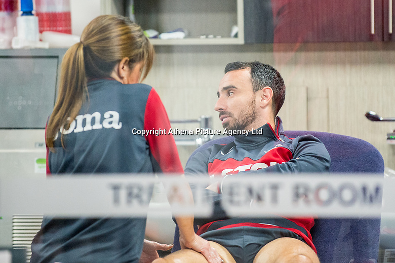 Leon Britton in the physiotherapy room during the Swansea City training session at The Fairwood training Ground, Swansea, Wales, UK. Thursday 16 November 2017