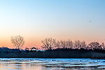 Sunrise on Belle Isle Marsh, East Boston, Massachusetts, USA