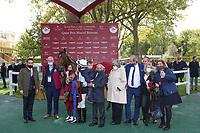 4th October 2020, Longchamp Racecourse, Paris, France; Qatar Prix de l Arc de Triomphe;  Tiger Tanaka - Jessica Marcialis - Charley Rossi - Castro Megias - Christiane Head