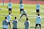 Spain's Mikel Oyarzabal, Sergio Canales, Sergio Ramos, Dani Olmo, Rodrigo Moreno and Jesus Navas during training session. October 6,2020.(ALTERPHOTOS/Acero)
