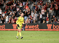 10th February 2021; Bankwest Stadium, Parramatta, New South Wales, Australia; A League Football, Western Sydney Wanderers versus Melbourne Victory; Daniel Margush of Western Sydney Wanderers celebrates his team taking a 2-0 lead in the 88th minute