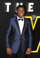John Boyega during the STAR WARS: 'The Force Awakens' EUROPEAN PREMIERE at Odeon, Empire & Vue Cinemas, Leicester Square, England on 16 December 2015. Photo by David Horn / PRiME Media Images