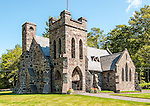 The All Souls Church, a beautiful stone church in Tannersville, NY