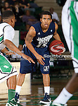 Jackson State Tigers guard Jonathan Lewis (15) in action during the game between the Jackson State Tigers and the University of North Texas Mean Green at the North Texas Coliseum,the Super Pit, in Denton, Texas. UNT defeated Jackson State 69 to 55.