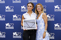 Valeria Bilello, left, and Stefania Fabiano attend a photocall for 'L'Oreal Award' during the 72nd Venice Film Festival at the Palazzo Del Cinema in Venice, Italy, September 10, 2015.<br /> UPDATE IMAGES PRESS/Stephen Richie