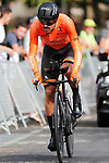 Luis Angel Mate (ESP) Euskaltel Euskadi in action during Stage 1 of La Vuelta d'Espana 2021, a 7.1km individual time trial around Burgos, Spain. 14th August 2021.    <br /> Picture: Luis Angel Gomez/Photogomezsport | Cyclefile<br /> <br /> All photos usage must carry mandatory copyright credit (© Cyclefile | Luis Angel Gomez/Photogomezsport)