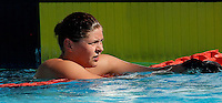 Trofeo Settecolli di nuoto al Foro Italico, Roma, 15 giugno 2013.<br /> Friis Lotte, of Denmark, reacts after winning in the womens' 800 meters  Freestyle at the Sevenhills swimming trophy in Rome, 15 June 2013.<br /> UPDATE IMAGES PRESS/Isabella Bonotto