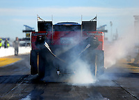 Feb 4, 2016; Chandler, AZ, USA; NHRA funny car driver Cruz Pedregon during pre season testing at Wild Horse Pass Motorsports Park. Mandatory Credit: Mark J. Rebilas-USA TODAY Sports