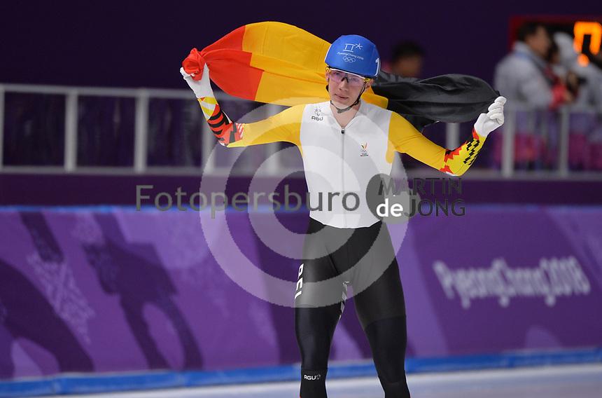 OLYMPIC GAMES: PYEONGCHANG: 24-02-2018, Gangneung Oval, Long Track, Mass Start Men, Bart Swings (BEL), ©photo Martin de Jong