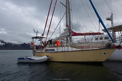 Pequod, a restored 28-ft steel-hull sailboat